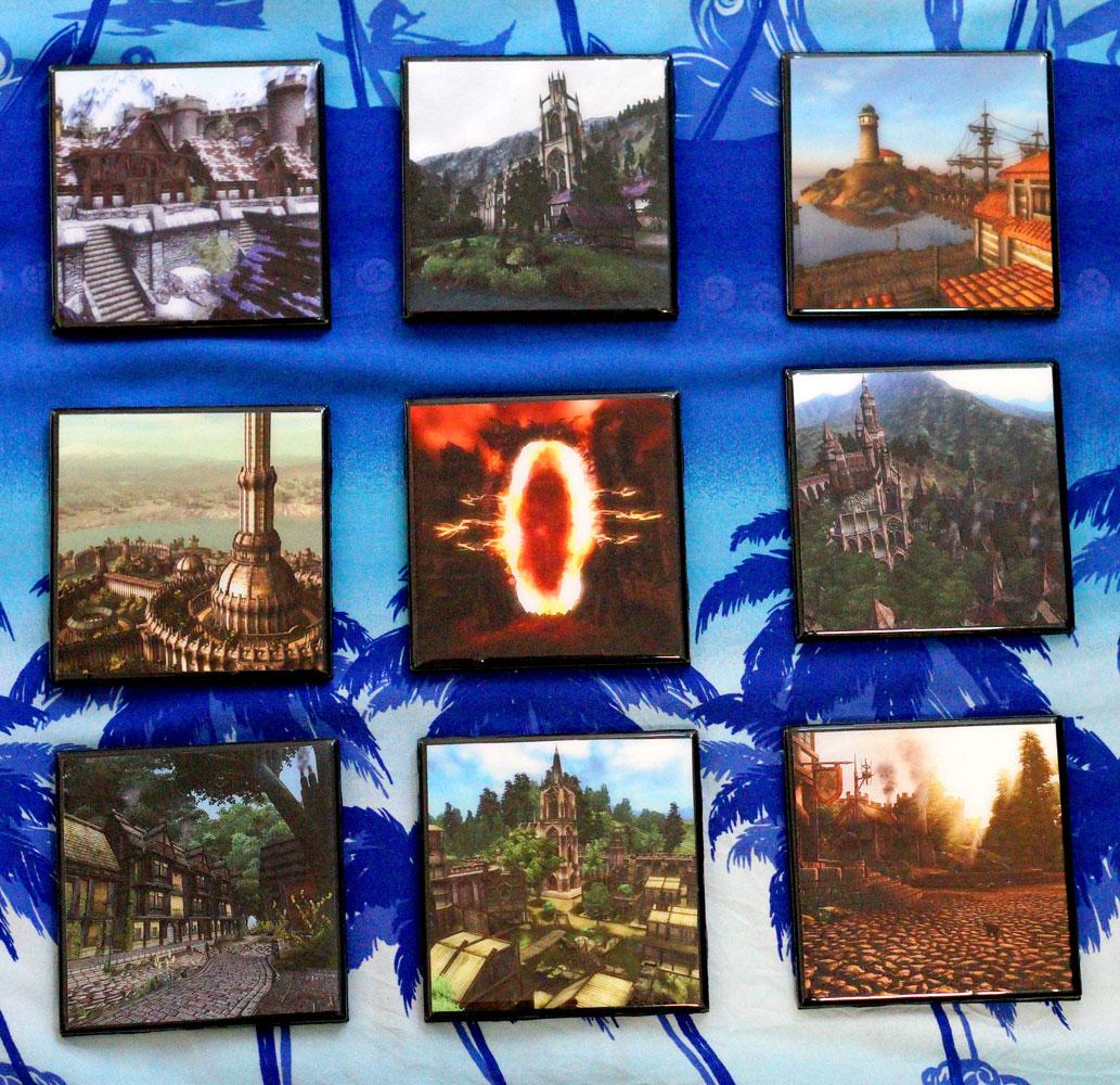 Homemade Oblivion Coasters