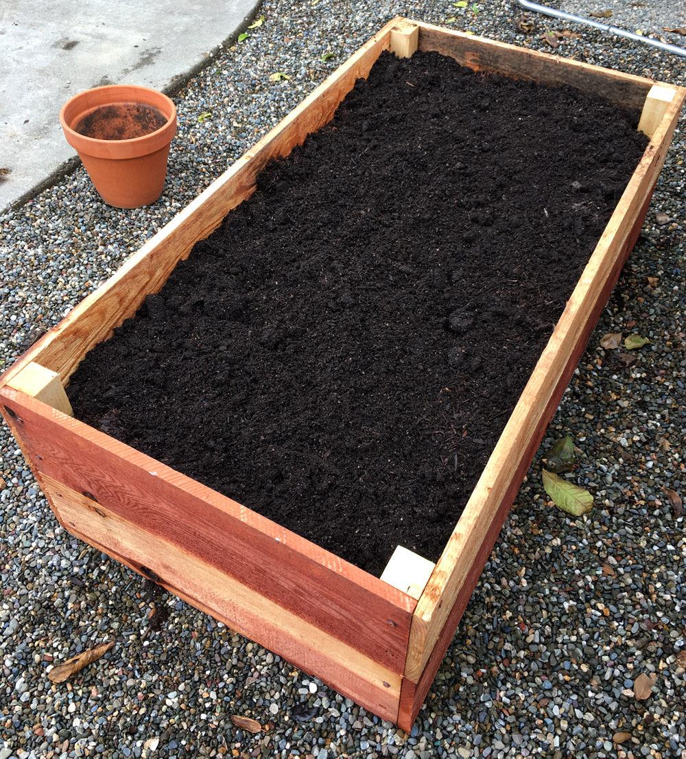 Planter Box Full Of Dirt