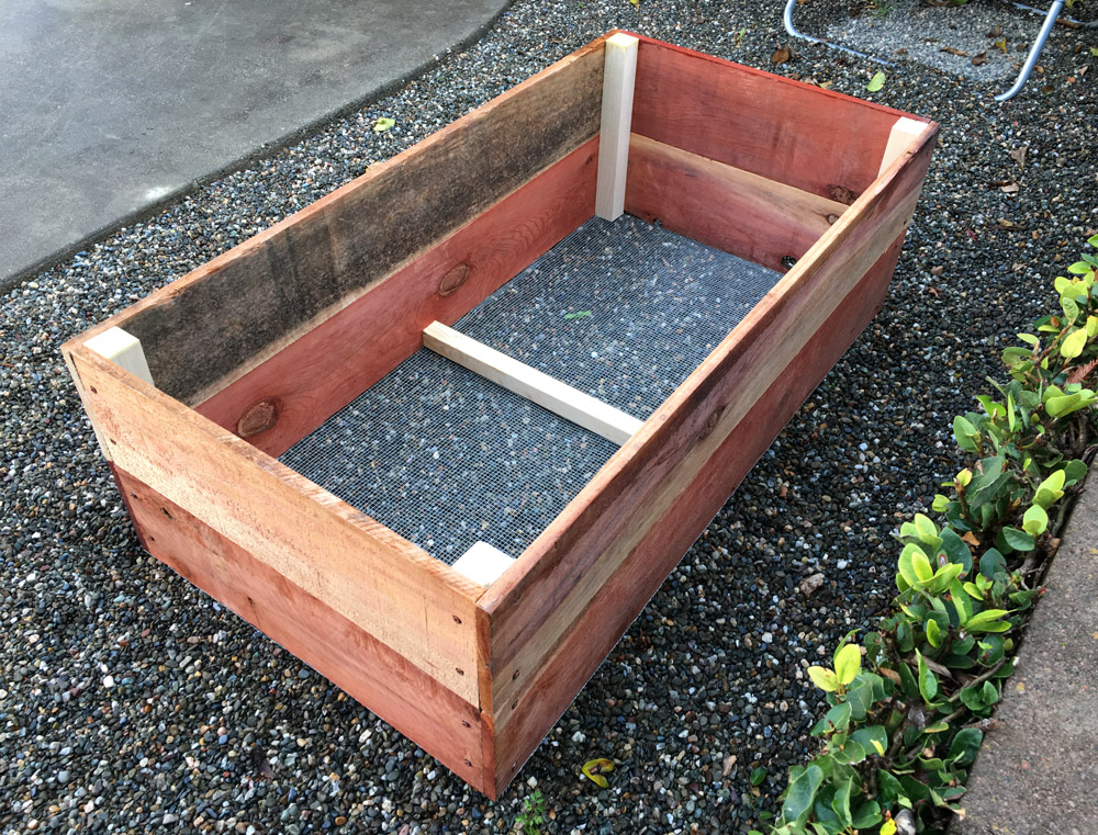 Home Made Redwood Planter Box