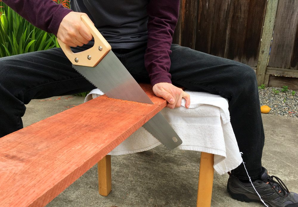 Cutting Redwood Boards For Planter Box