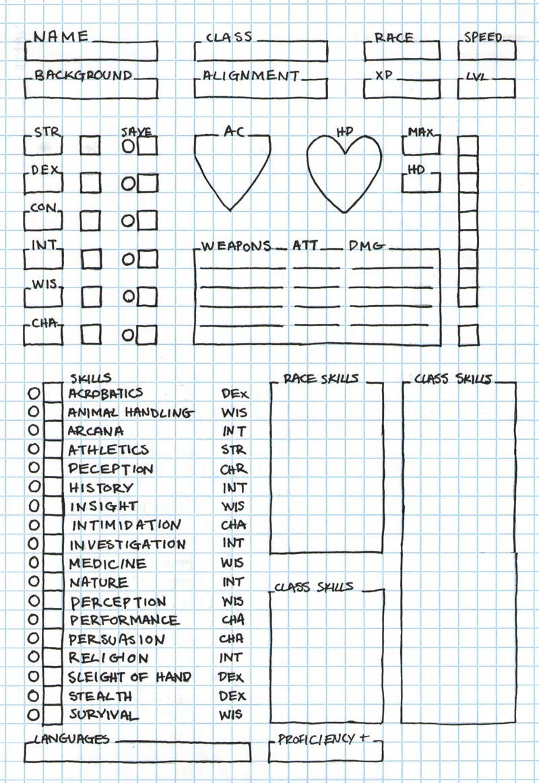 5e Warrior Character Sheet