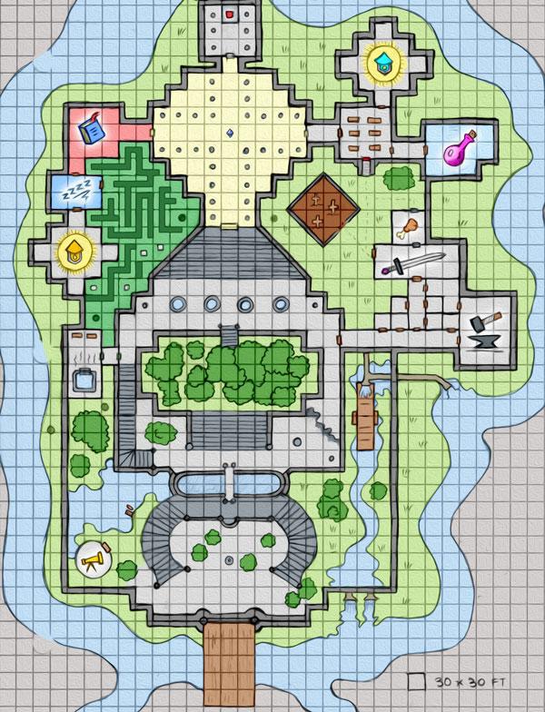 D&D 5e Adventure of the Broke Dragon Slayers Full Map Thumbnail