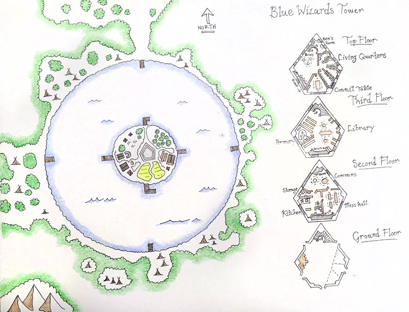 D&D Forest Lake Map