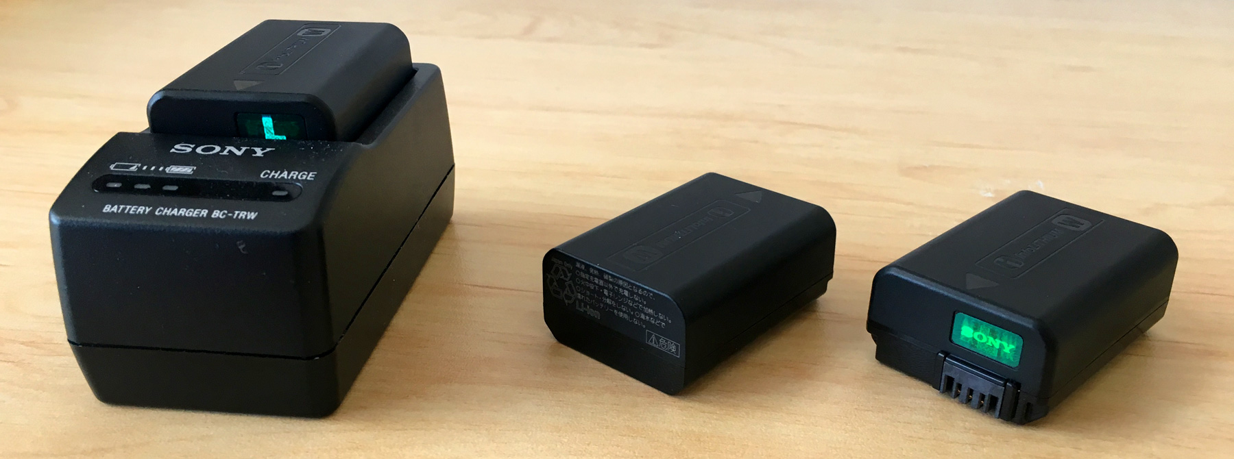 Sony Alpha Wall Charger & Batteries