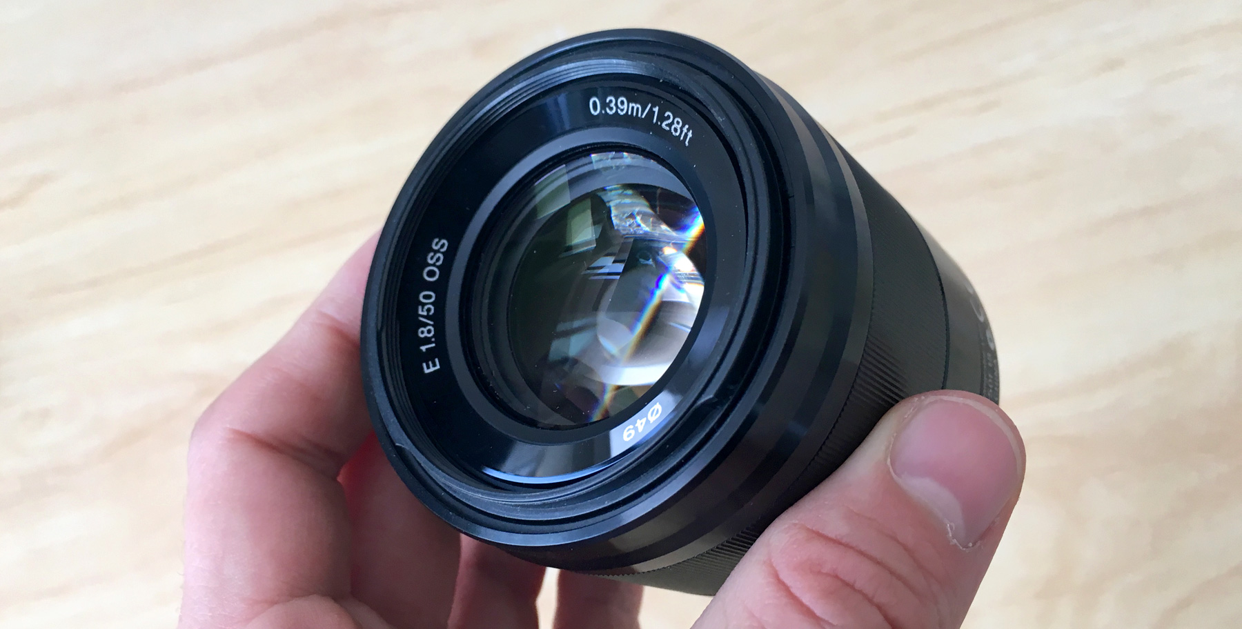 Sony E Mount 50mm F1.8 OSS Lens
