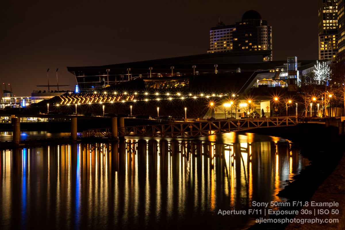 Vancouver Harbor Night Exposure by AJ Lemos
