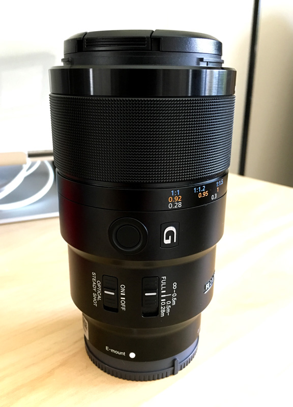 Sony 90mm Macro G OSS Lens Side