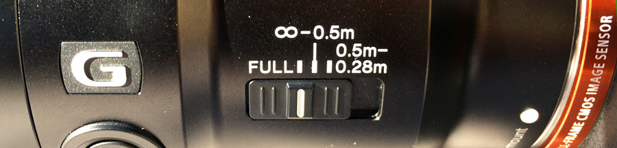 Sony 90mm Macro Focus Range Switch