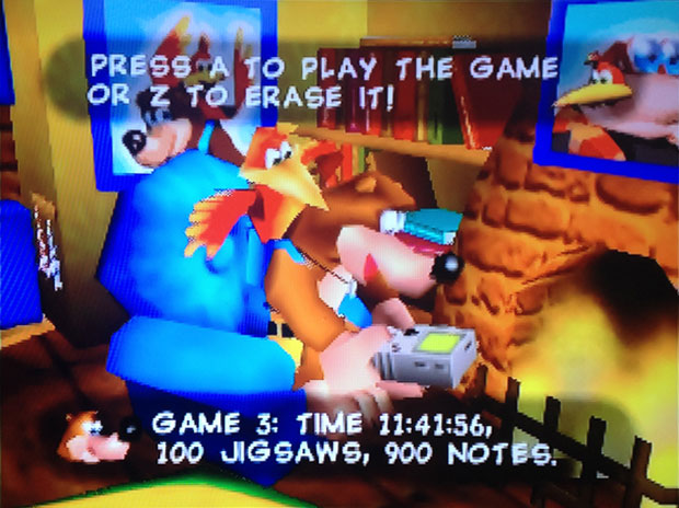 Banjo Kazooie Home Screen 100% Completion