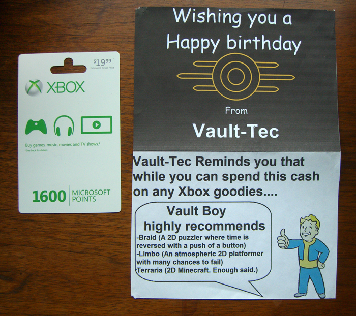 Fallout 3 Happy Birthday Card